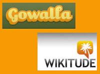 afbeelding logos Wikitude en Gowalla