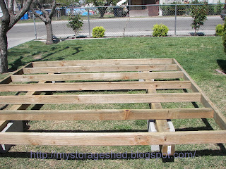 To build a storage shed step 1 building the storage shed foundation
