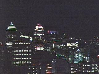 La City de Montreal de noche