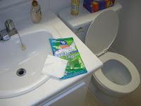 Paños descartables para limpiar el baño