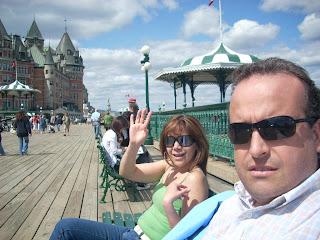 En la rambla con el Chateau Frontenac de fondo, Quebec