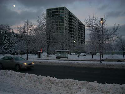 Primera nevada en serio de Montreal