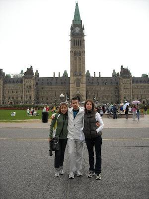Al pie del Parlamento, subimos también a la torre para ver los alrededores