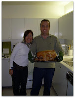 Nuestro primer pavo al horno... los hornos son grandes para que entren los pavos