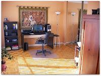 La habitación que dobla como estudio y solarium pero ya no sauna
