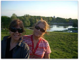Moni y mamá en la parque Mont-Royal