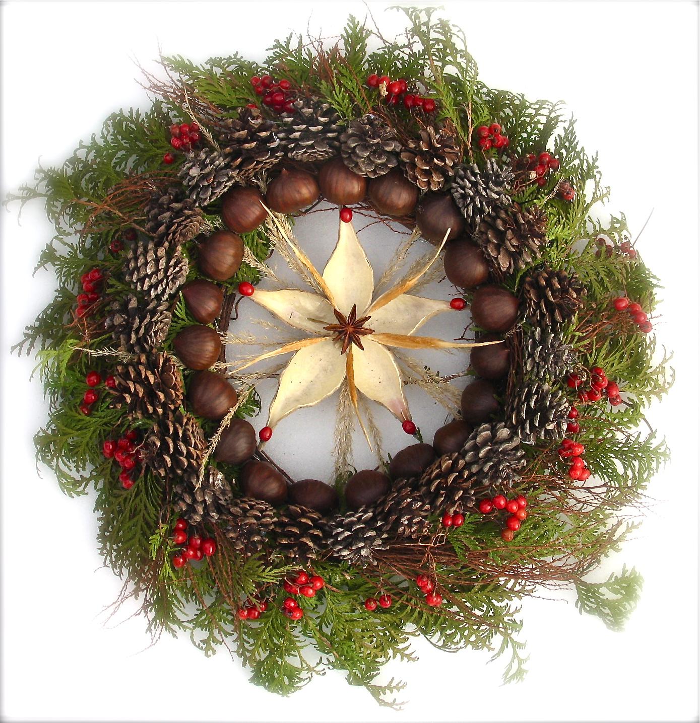 welcome christmas wreath on - photo #28
