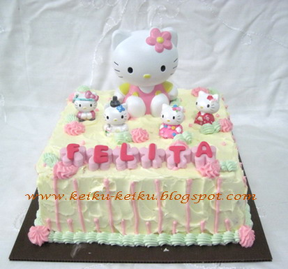 Keiku Cake Hello kitty buttercream cake