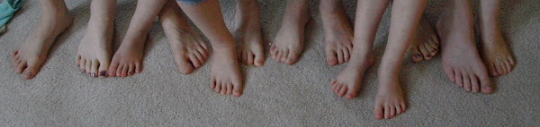 Look at all those beautiful little feet two people can create!