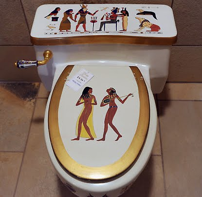 Ultra gross poop like an egyptian for Bathroom accessories egypt