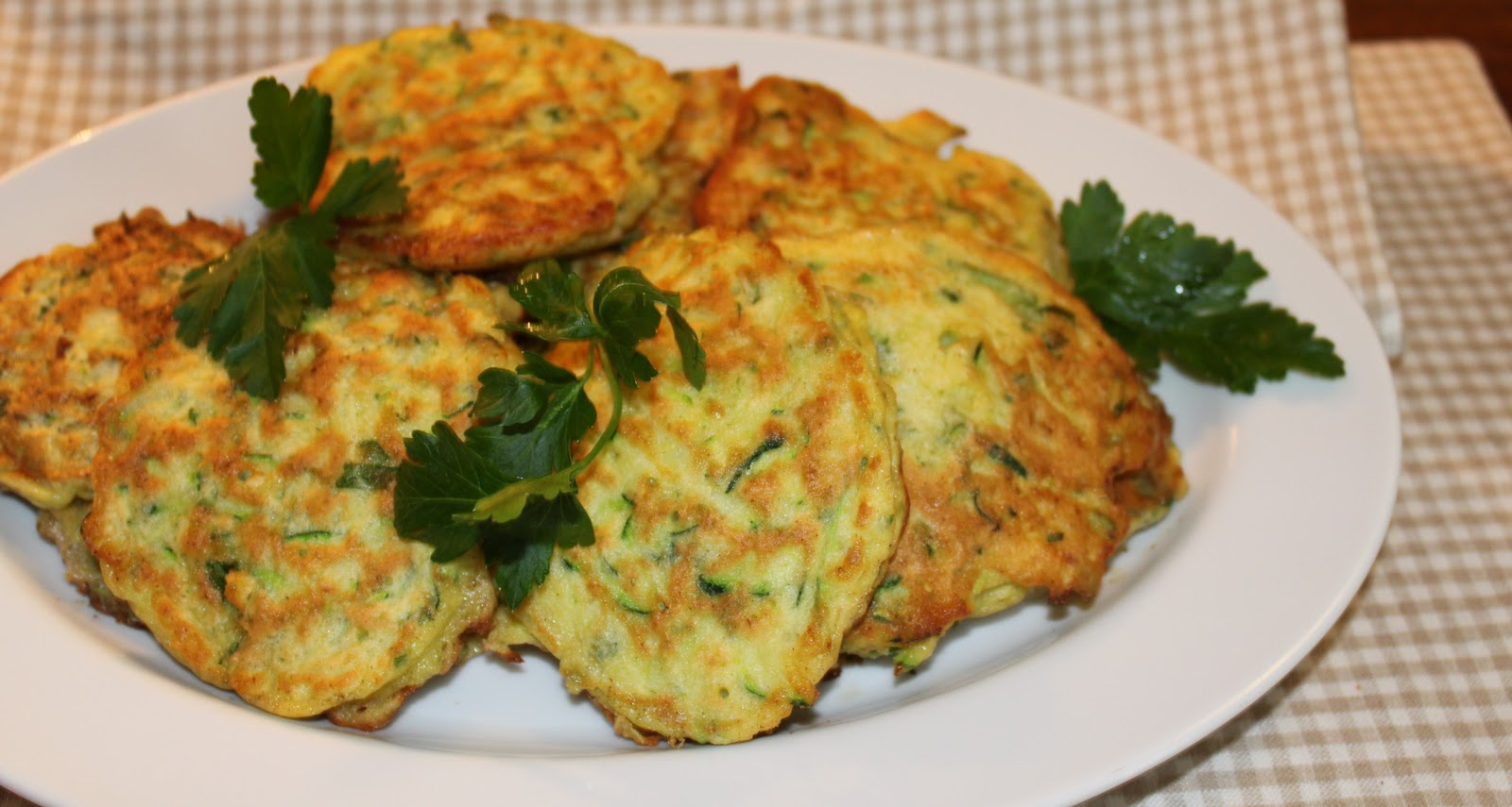 Zucchini Pancakes based on a recipe from Ina Garten with a few ...
