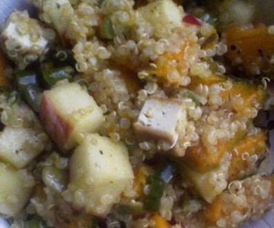 Quinoa, Butternut Squash & Kale Salad And An Apple Cardamom Crisp ...