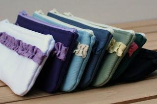 handmade pencil pouch ruffles