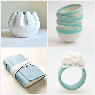 etsy finds treasury aqua and white handmade