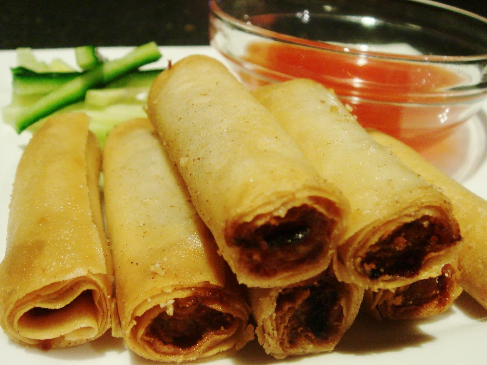 lumpiang shanghai mini spring rolls lumpiang sariwa fresh spring roll