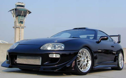 Blue Toyota Supra 98   Car Club