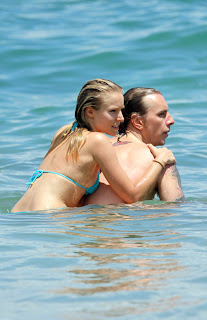 Kristen Bell out on the beach in Hawaii