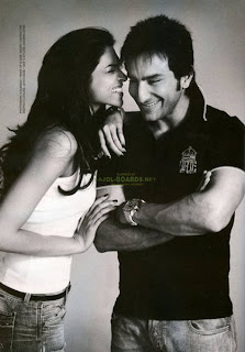 Deepika and Saif Ali Khan Filmfare Cover