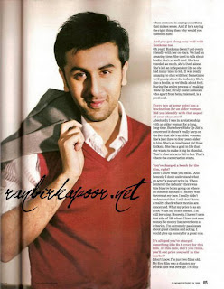 Ranbir Kapoor Filmfare India October 2009
