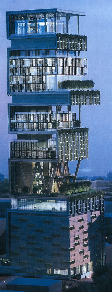 Antilla, The Most Expensive House in the World from India