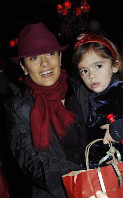 Salma Hayek And Valentina Visit Santa Claus