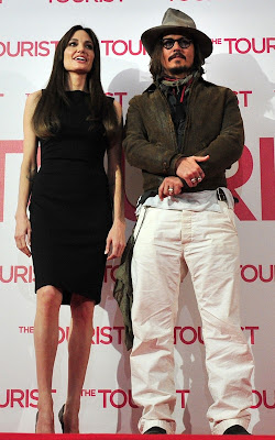 Angelina Jolie and Johnny Depp promoting
