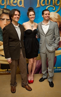 Byron Howard, Mandy Moore and Nathan Greno attend the UK film premiere of 'Tangled' on January 23, 2011