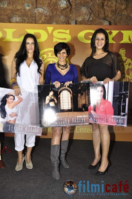 Neha Dhupia Launches Gold Gym Calendar Photos