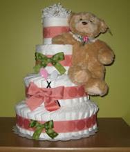 Como hacer un Diaper Cake (pastel de Pañales)