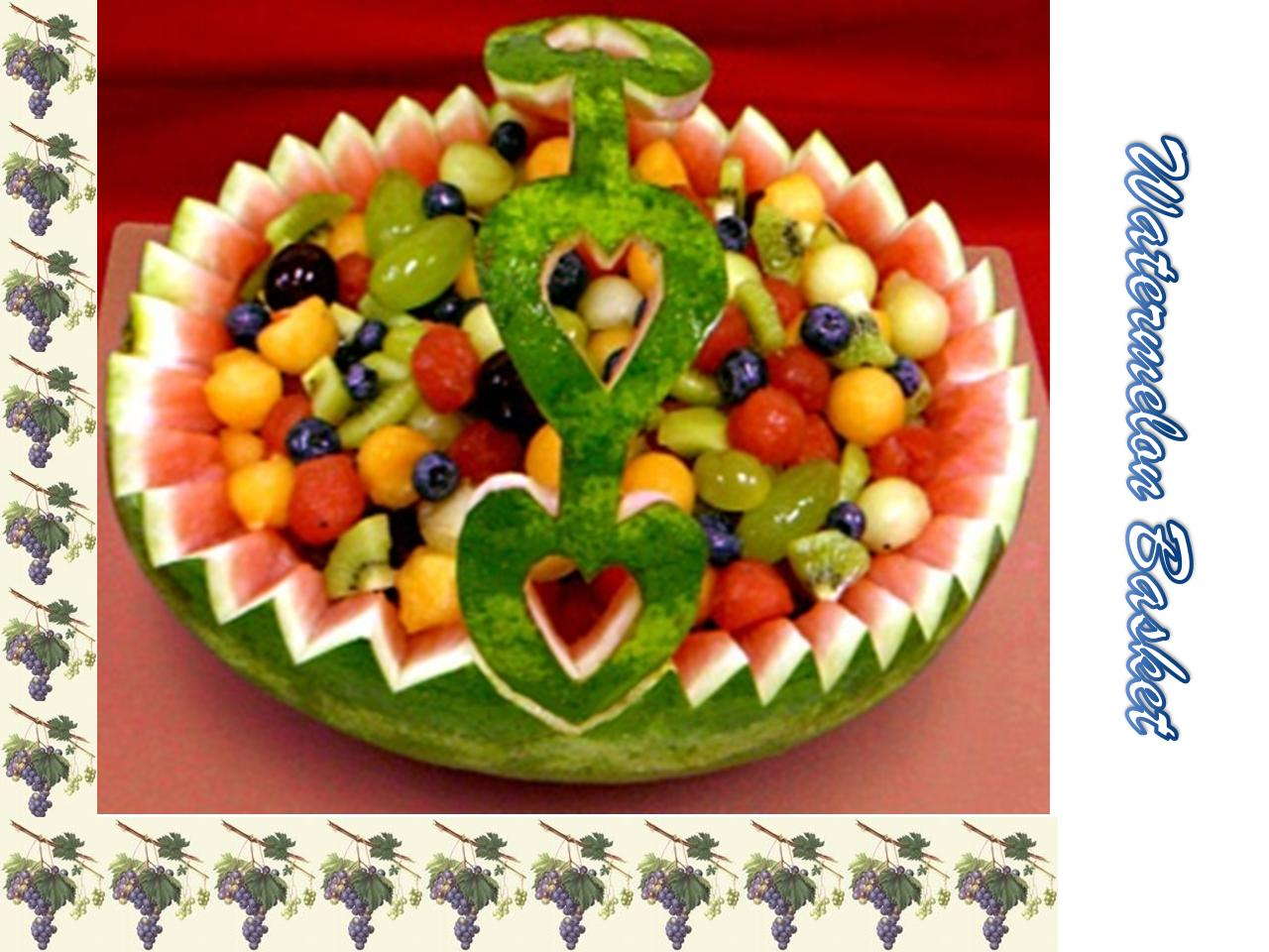 Food decoration watermelon basket