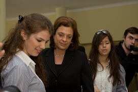Agnieszka Bemowska& Magda Wargocka with Israeli Minister Of Education