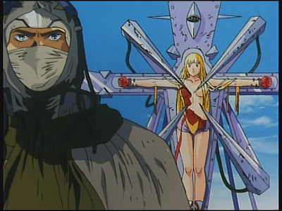 The use of christian imagery for aesthetic purposes in early 90s anime