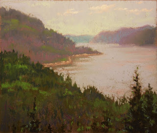 pastel plein air st rose du nord sunset fjords soft pastels
