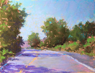 pastel painting plein air Cobourg Grafton soft pastels