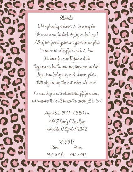 bella artista pink cheetah baby shower