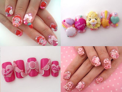 yaplog.jp+la reine ami Great looking nails with ribbons