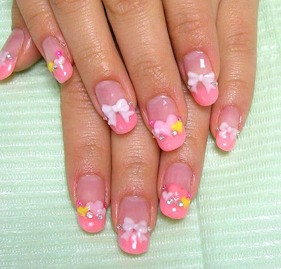 aya1gou+Japanese+Lolita+nail+art Great looking nails with ribbons