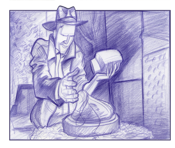 Force Character Design From Life Drawing By Mike Mattesi : Forced by mike mattesi indiana jones iconic moment