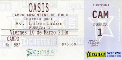 ticket BsAs, Argentina 2006