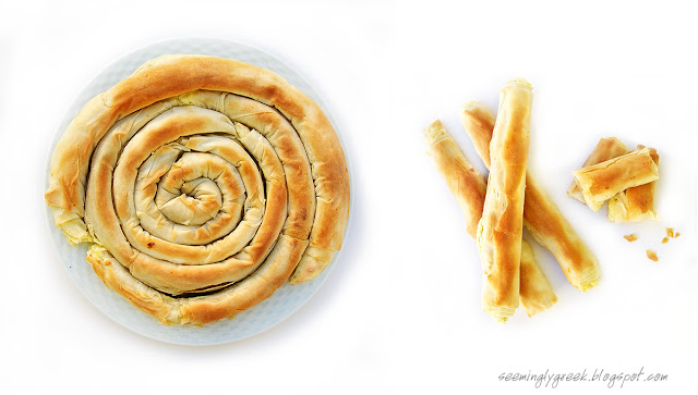 double tyropita Spiraled Cheese Pie