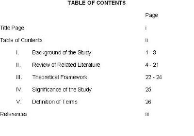 term paper contents