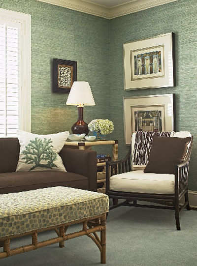 Wallpaper Living Room on Has Anyone Used Grasscloth Wallpaper