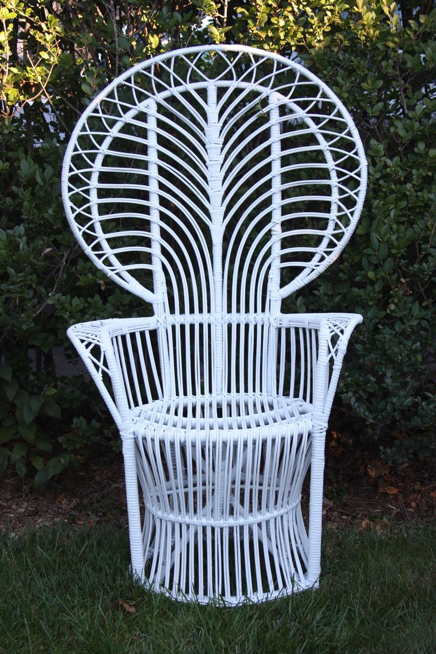 fan back wicker chair
