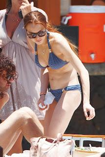 more Lindsay Lohan hot bikini pictures