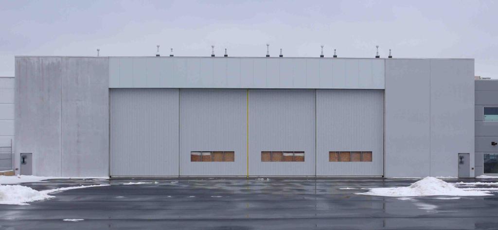 & Bottom Rolling Sliding Hangar Door Installed - Halifax NS