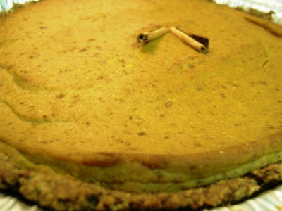Gluten Free Dairy Free low carb Harvest Pumpkin Pie