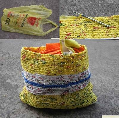 Reutiliza bolsas de plastico