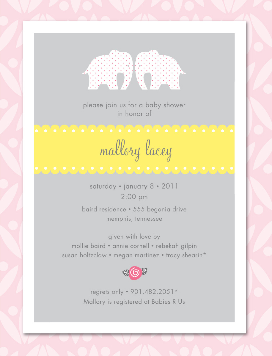 JPress Designs: Baby Shower Invitation