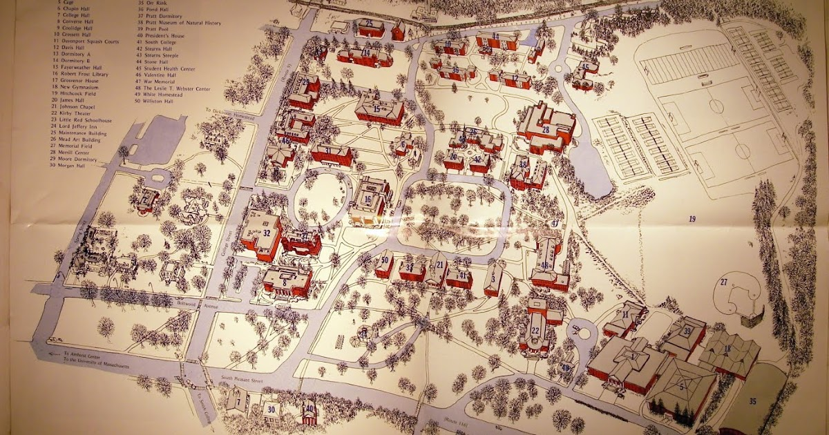 Palblog Blast From The Past 232 Amherst College Campus Map
