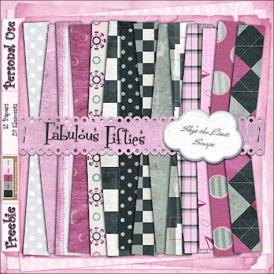 Fabulous Fifties Papers Freebie from Skys The Limit